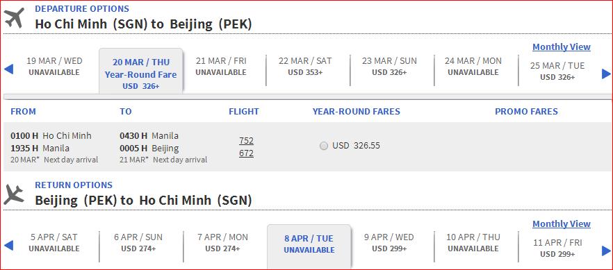Bắc Kinh - HCM