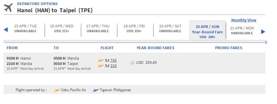 Vé máy bay giá rẻ đi Đài Loan
