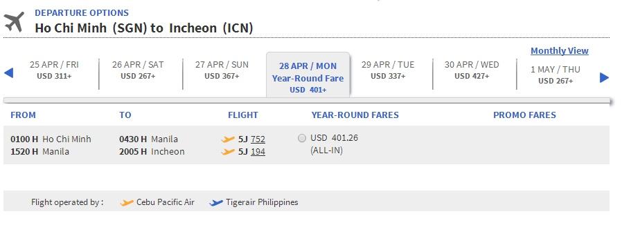 Mua vé máy bay đi Seoul giá rẻ