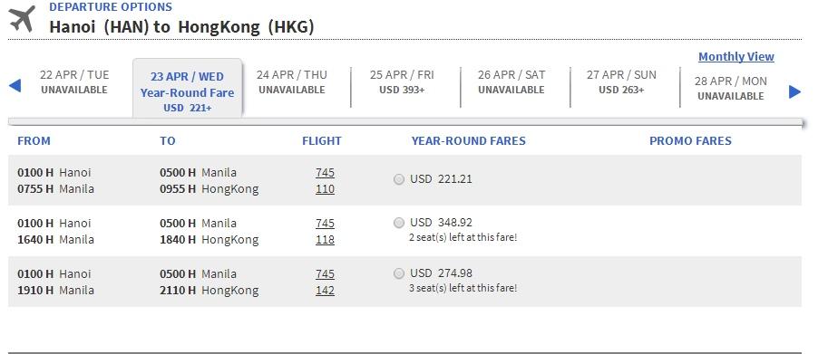 Vé máy bay Cebupacific đi Hồng Kông
