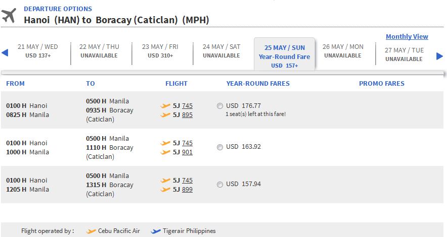 Vé máy bay Hồ Chí Minh đi Boracay