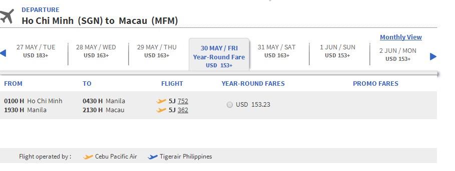 Du lịch Macao với Cebu Pacific
