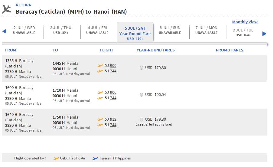 Mua vé máy bay đi Boracay giá rẻ