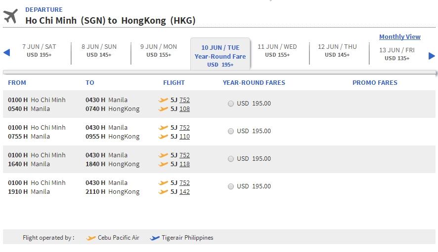 Du lịch Hong Kong cùng Cebu Pacific