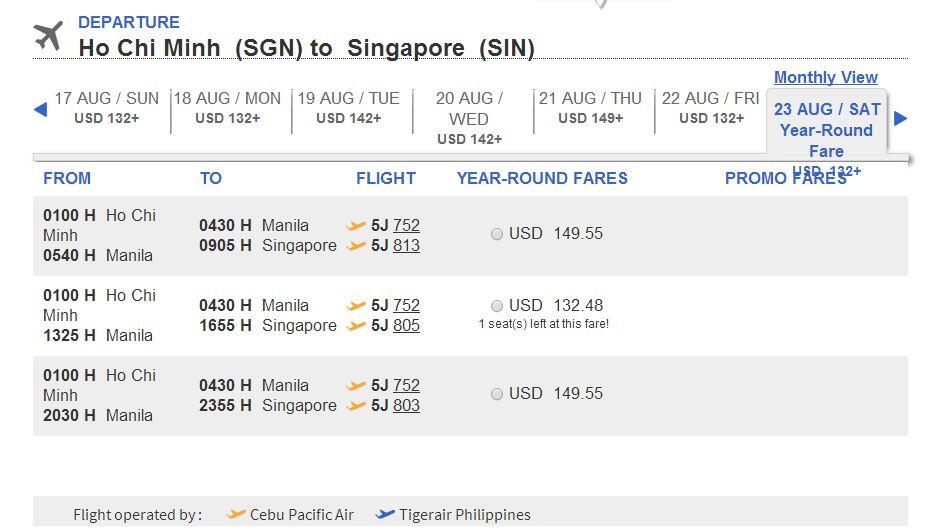 Du lịch Singapore cùng Cebu Pacific