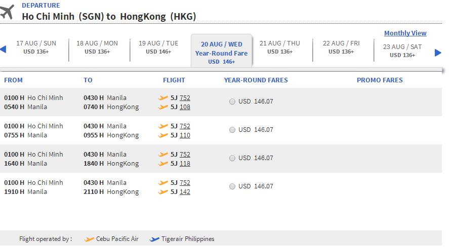 Mua vé máy bay đi Hong Kong giá rẻ