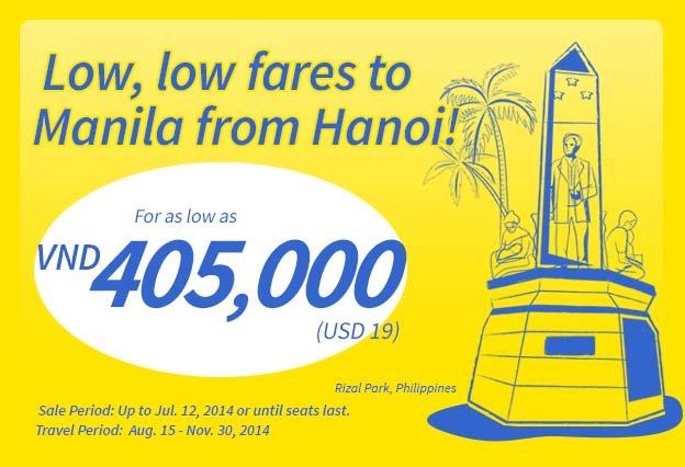 Cebu Pacific khuyến mãi vé máy bay đi Manila giá rẻ