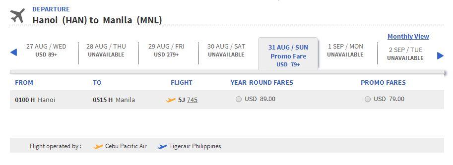 Mua vé máy bay giá rẻ đi Manila