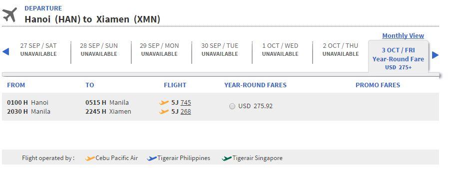 Vé máy bay đi Hạ Môn giá rẻ