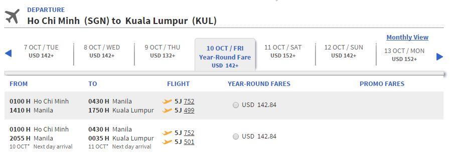 Vé máy bay đi Kuala Lumpur bao nhiêu tiền