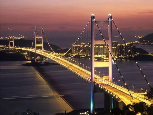 Vẻ đẹp của Hong Kong khi nhìn từ cầu Thanh Mã