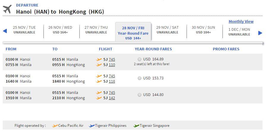 Vé máy bay đi Hong Kong bao nhiêu tiền