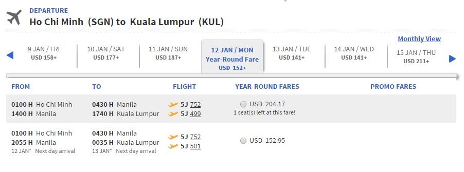 Vé máy bay đi Malaysia bao nhiêu tiền