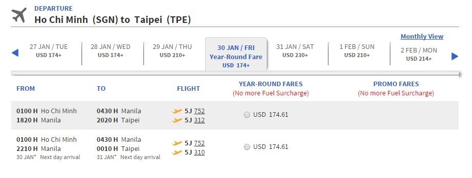 Vé máy bay Hồ Chí Minh đi Đài Loan giá rẻ