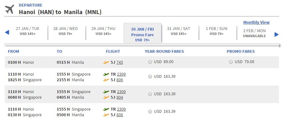 Vé máy bay đi Philippines bao nhiêu tiền