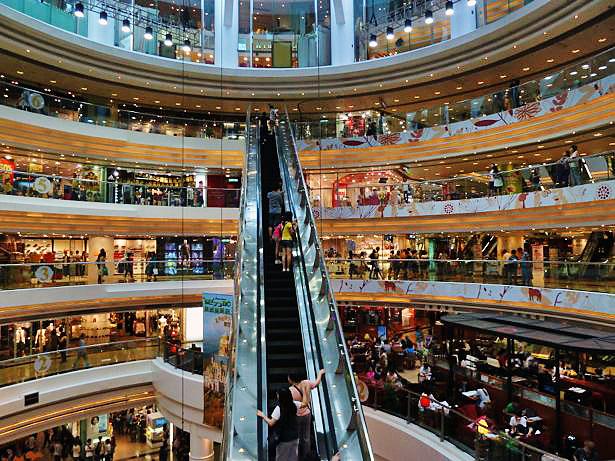 Một trong những trung tâm mua sắm ở Hong Kong