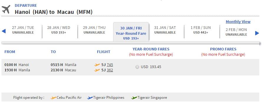 Đặt vé máy bay đi Macao ở đâu